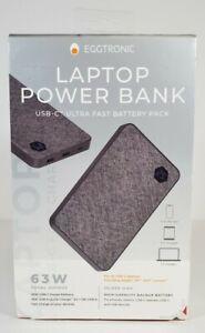 Eggtronic Laptop Power Bank USB-C Ultra Fast Battery Pack 63W 20000 mAh Apple HP