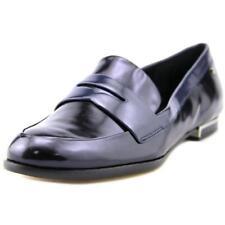 Zapatos planos de mujer de color principal azul de piel talla 36.5