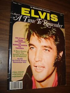 Elvis August 16 A Time To Remember Magazine 1978 Elvis Presley Tribute AUG 16