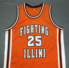 DEON THOMAS Fighting Illinois Orange Away Basketball Jersey Gift Any Size