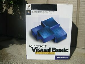Microsoft Visual Basic Deluxe Learning Edition Boxed Set Windows 95 NT Nice Cnd