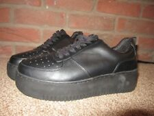 NEW UK 7 River Island Trainers Black Chunky Platform Sole Lace Up EU 40 Shoes