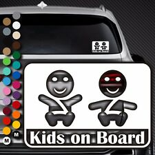 A89# Aufkleber Baby on Board Kind an Bord Tour Kinder Kids in Auto Buggy Sticker