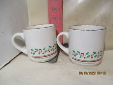 ARBY'S RESTAURANTS CHRISTMAS COLLECTION MUGS FROM 1987 - NO DAMAGE!