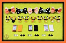 🌺 Littlest Pet Shop LPS Halloween 5 Pc Accessories Set - Bow Phone Collar ++