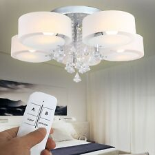 E27 LED Kristall Deckenlampe Wohnzimmer Hängeleuchte Leuchte RGB Fernbedienung
