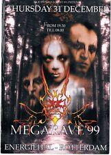 MEGARAVE '99 Rave Flyer A5 31/12/99 Energiehall Rotterdam Netherlands Darkraver