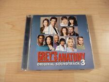 CD bande originale Grey's Anatomy Volume 3 - 2007 - 15 chansons