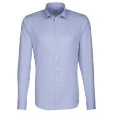 Seidensticker Herren Hemd Schwarze Rose Kent blau weiß Kariert Gr 44 / 244500.14