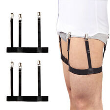Mens Dress Shirt Stays Leg Thigh Suspender Garters Keep Tucked In With Non-slip