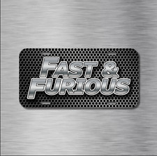 Fast and Furious JDM Vehicle License Plate Front Auto Tag Plate Racing Tuner NEW
