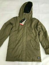 LEVI'S Men's Thermore Padded Parka Jacket - Olive Green - SIZE S