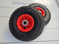 More details for 3.00-4 wheels for sack truck, trolley, 4x wheels + spare tubes