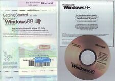 MICROSOFT WINDOWS 98 SECOND EDITION SE - PC OPERATING SYSTEM WITH COA & CODE