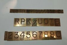 Brass Engraving Letters And Numbers For Gorton Deckel Pantographlot Of 38