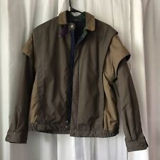 VTG GENERRA Quilted Lined Jacket With Removable zip Sleeves Size 36