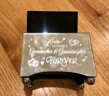 Love Between Granddaughter &Grandmother Mirrored Music Box Bradford Exchange New