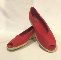 Women's KEEN US SIZE 8.5 Red CORTONA Wedge Slip On Open Toe Shoes