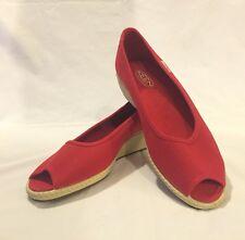 Women's KEEN US SIZE 8.5 Red CORTONA Wedge Slip On Open Toe Shoes