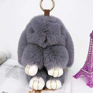 Kids Toys Key Chains Lovely Rabbit Puffy Fashion Bags car creative Ornament