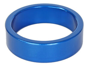 """Headset Spacer 10mm x 1 1/8"""" NEW! Shim Anodized bike scooter xc dh bmx mtb BLUE"""