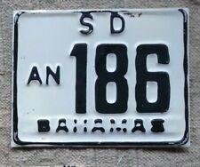 ANDROS BAHAMAS License Plate Tag  RENTAL MOTORCYCLE 1977-era