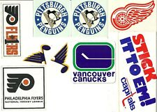 NHL Hockey Lot of 10 Stickers & Decals Vintage 1970s CLASSICS FREE SHIPPING