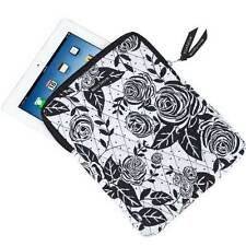 ROSE POP BLACK WHITE FABRIC QUILTED TABLET CASE ~ BELLA TAYLOR