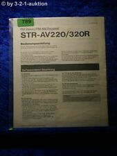 Sony Bedienungsanleitung STR AV220 / 320R FM/AM Stereo Receiver  (#0789)