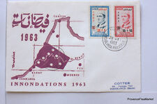 Yt N° 453 54   MAROC MOROCCO  Premier jour  INONDATIONS   1963