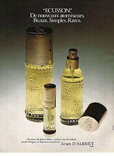 PUBLICITE  1972   JEAN D'ALBRET  parfum  ECUSSON