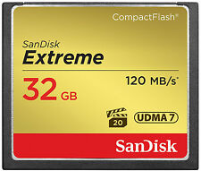 SanDisk 32GB Extreme Compact Flash 800X High Speed CF Memory Card  UDMA7 120MB/s