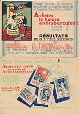 2 carnets de propagande antituberculose 1929 et 1930 lutte contre la tuberculose
