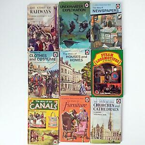 Ladybird Achievements (9 x Vintage Books,1961-79 Ladybird Books) Part Set 601