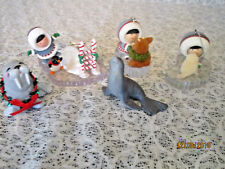 Lot of 6 Hallmark Frosty Friends Ornaments 1983-86-88-92-2004 Seal Unsigned