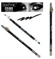 1 x Technic Black Eyeliner with Smudger & Sharpener Eye Liner Makeup Pencil New