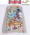 Studio Ghibli My Neighbour Totoro Grey Cute Long Sleeve Jumper Sweater Size 8