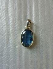 Sterling Silver  Pendant Light Blue Gemstone Sapphire? Gem Stone Chain Necklace