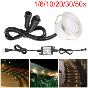45mm 0.5W Low Voltage RGB/RGBW Waterproof LED Deck Light Outdoor Stair Yard Path