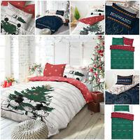 New Merry Christmas Print Duvet Quilt Covers Xmas Tree Bedding Sets Pillowcase