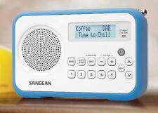 Sangean DPR-67 Blue DAB+ FM-RDS Digital Clock Radio Receiver - LCD display