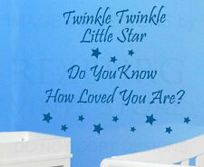 Wall Decal Art Sticker Quote Vinyl Twinkle Twinkle Little Star You Are Loved B29