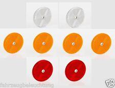 Katzenauge Reflektoren  Rückstrahler rund gelb weiß rot schrauben PKW  Anhänger