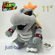 "Super Mario 3D Land Skeletal Dry Bowser Bones Plush Soft Toy Doll Teddy 11"" NWT"