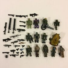 Halo Mega Bloks Lot Figures Parts Weapons Accessories + Extras