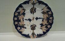 "A Meissen Antique Maple Leaf Gold and Cobalt Blue Cabinet Plate 8 3/8"""