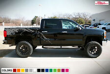 Decal Sticker Graphic Side Bed Mud Splash Kit for Chevrolet Silverado Z71 Bumper