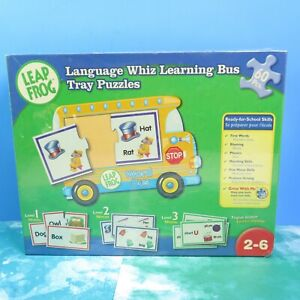 Leap Frog Sealed Language Whiz 2006 Learning Bus Tray Puzzles 60 pcs Age 2-6