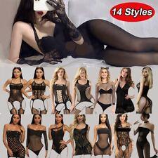 14 Style Women's Sexy Mesh Stockings See-through Temptation Bodysuit Lingeries
