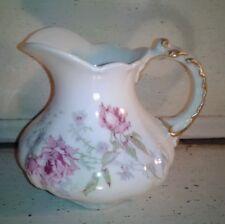 WG Limoges Guerin Pink Floral Creamer